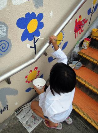 壁画を描こう!「3びきのかめ・1まんねんのぼうけん!」⑬_f0247351_925597.jpg