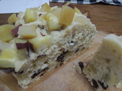 蒸しケーキ、ラタトゥイユ、混ぜ込みお焼きを作りました_b0252363_1722446.jpg