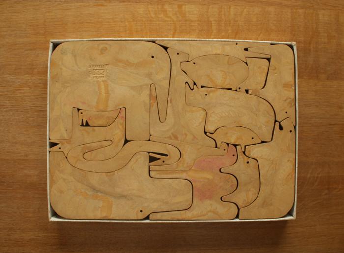 エンゾ・マリの動物パズル 16 ANIMALI  Danese_f0074803_14312272.jpg