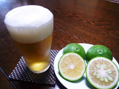 種なしかぼす ビールの新しい飲み方!!『かぼすビール』_a0254656_1857996.jpg
