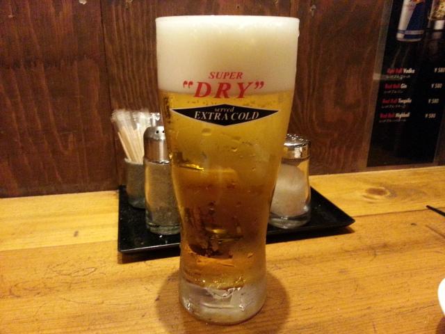溶岩串焼き べぇ助 エクストラコールド&甲州健味鶏串3本セット¥700 (ホットペッパークーポン)@日野市_b0042308_0522532.jpg