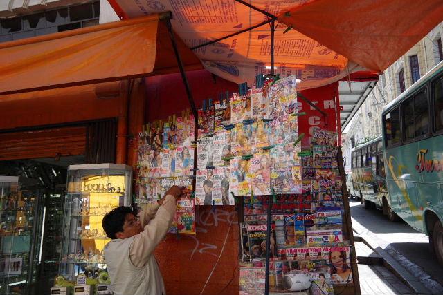 ボリビアの旅(40) 【ラパス】 サガルナガ通りとリナレス通り_c0011649_0133313.jpg