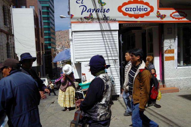 ボリビアの旅(40) 【ラパス】 サガルナガ通りとリナレス通り_c0011649_0134942.jpg