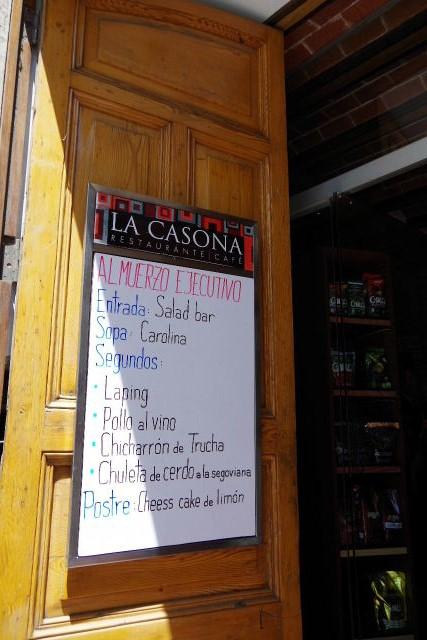 ボリビアの旅(41) 【ラパス】 リナレス通りとラ・カソナでランチ_c0011649_21405636.jpg