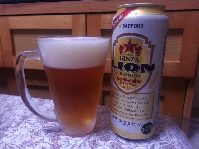 今夜のビールVol.96 サッポロ銀座ライオンプレミアム500ml¥292_b0042308_22233073.jpg