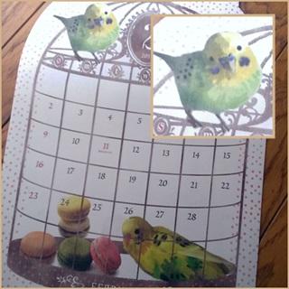 2014年も小鳥さんカレンダー。_e0182726_1514169.jpg