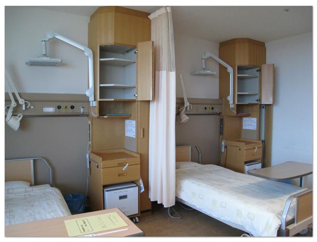 そらたび      8.病室(4人部屋)/横浜市立大学附属 市民総合医療センター
