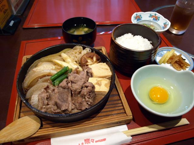 食座 楽々 その4(牛すき焼き鍋小膳)_d0153062_915682.jpg