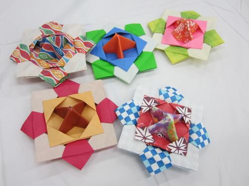 簡単 折り紙:折り紙 こま 3枚-divulgando.net