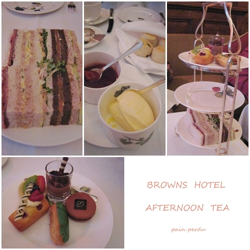 BROWNS HOTELの Afternoon tea_c0190542_23363992.jpg