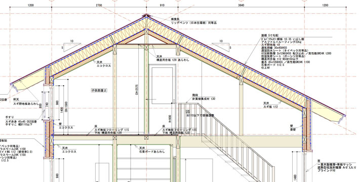 Q1住宅-X3青森:屋根構面GW400mm_e0054299_1612952.jpg