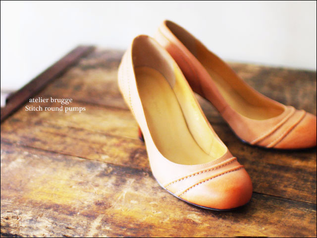 atelier brugge[アトリエブルージュ] stitch round pumps [No.7200] _f0051306_184034.jpg