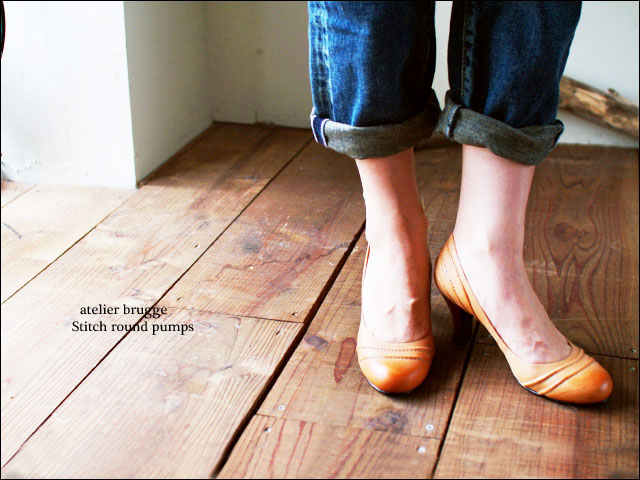atelier brugge[アトリエブルージュ] stitch round pumps [No.7200] _f0051306_184262.jpg
