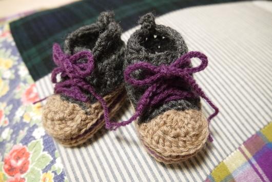 ママたち必見☆毛糸で編む手作りベビーシューズ♡