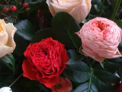 オークリーフ(秋バラと実もののアレンジメント)_f0049672_1335379.jpg