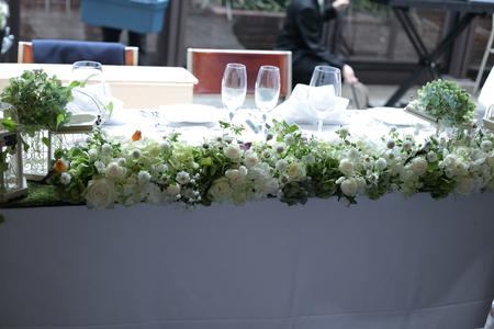 秋の卓上装花 ガラスの小瓶を並べて アンカシェット様へ_a0042928_1750508.jpg