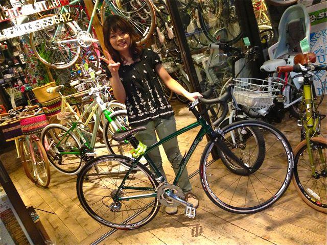 今日のバイシクルガール ☆二本立て☆ 自転車 女子 ANCHOR MASI おしゃれ_b0212032_21474735.jpg