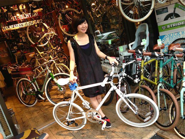 今日のバイシクルガール ☆二本立て☆ 自転車 女子 ANCHOR MASI おしゃれ_b0212032_215249.jpg