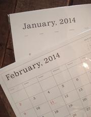 葛西薫さんの2014 カレンダー入荷してます。_e0199564_17292350.jpg