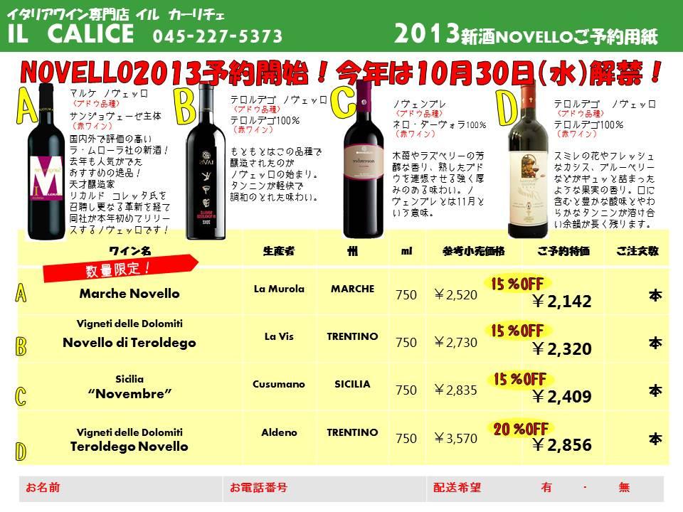 2013 新酒NOVELLO!_e0056094_12494536.jpg