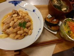 9/20晩ごはん:豚肩肉と白インゲン豆の煮込み_a0116684_1935683.jpg