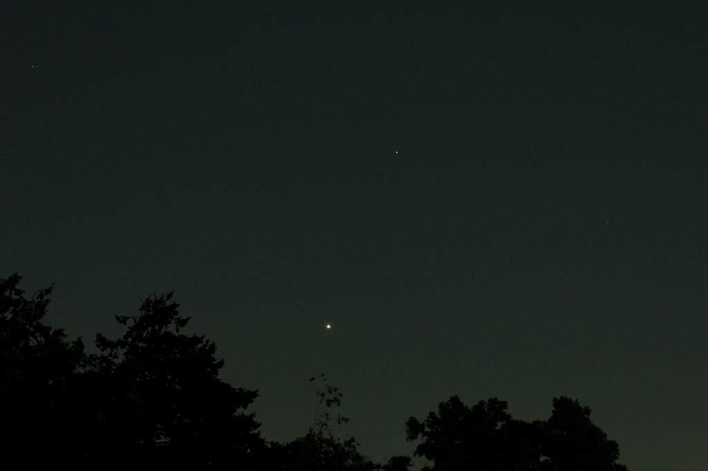 今朝も寒かった/カワセミ/金星と土星が接近/秋の空_b0024798_1575497.jpg