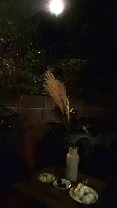 中秋の名月と鶏こうじ弁当_b0171098_7244170.jpg
