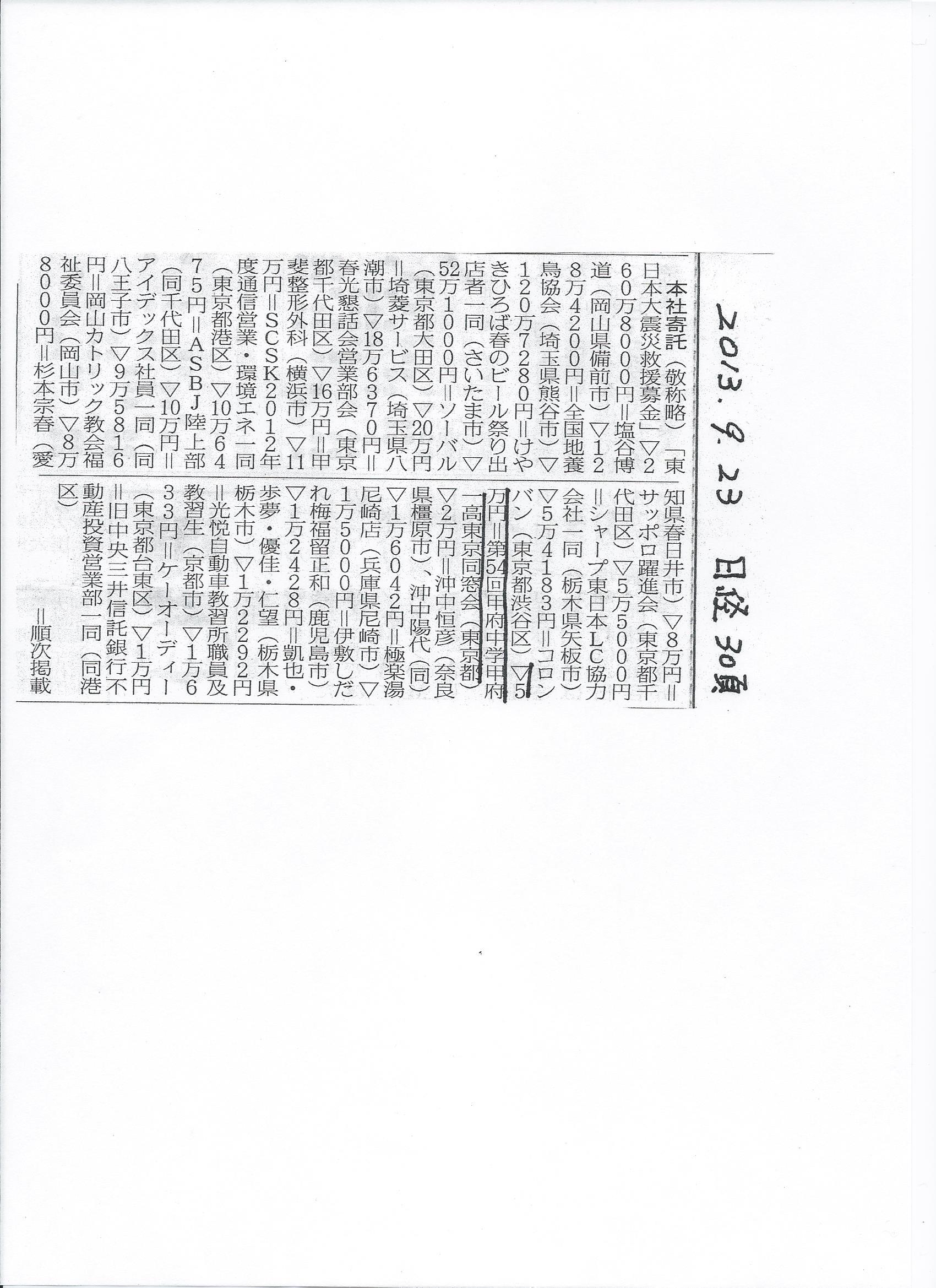 寄付の報告_a0255513_1061226.jpg