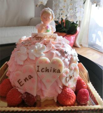 プリンセスケーキで、3人のB.D★_d0224894_15264560.jpg