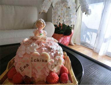 プリンセスケーキで、3人のB.D★_d0224894_15265093.jpg