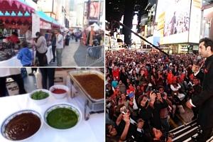 NYタイムズ・スクエアで史上初のインドの光のお祭り開催 Diwali at Times Square_b0007805_19552635.jpg