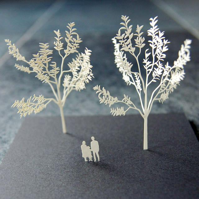 建築模型用 紙 製樹木模型_d0095746_1184297.jpg