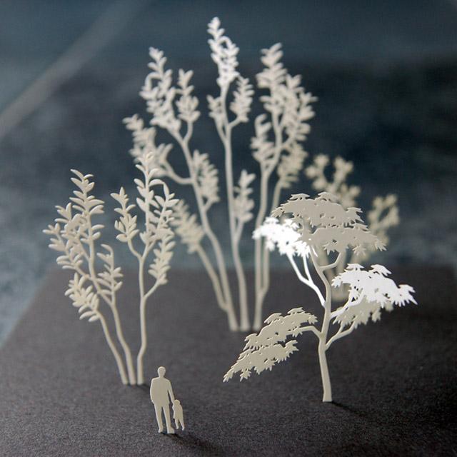 建築模型用 紙 製樹木模型_d0095746_1185027.jpg