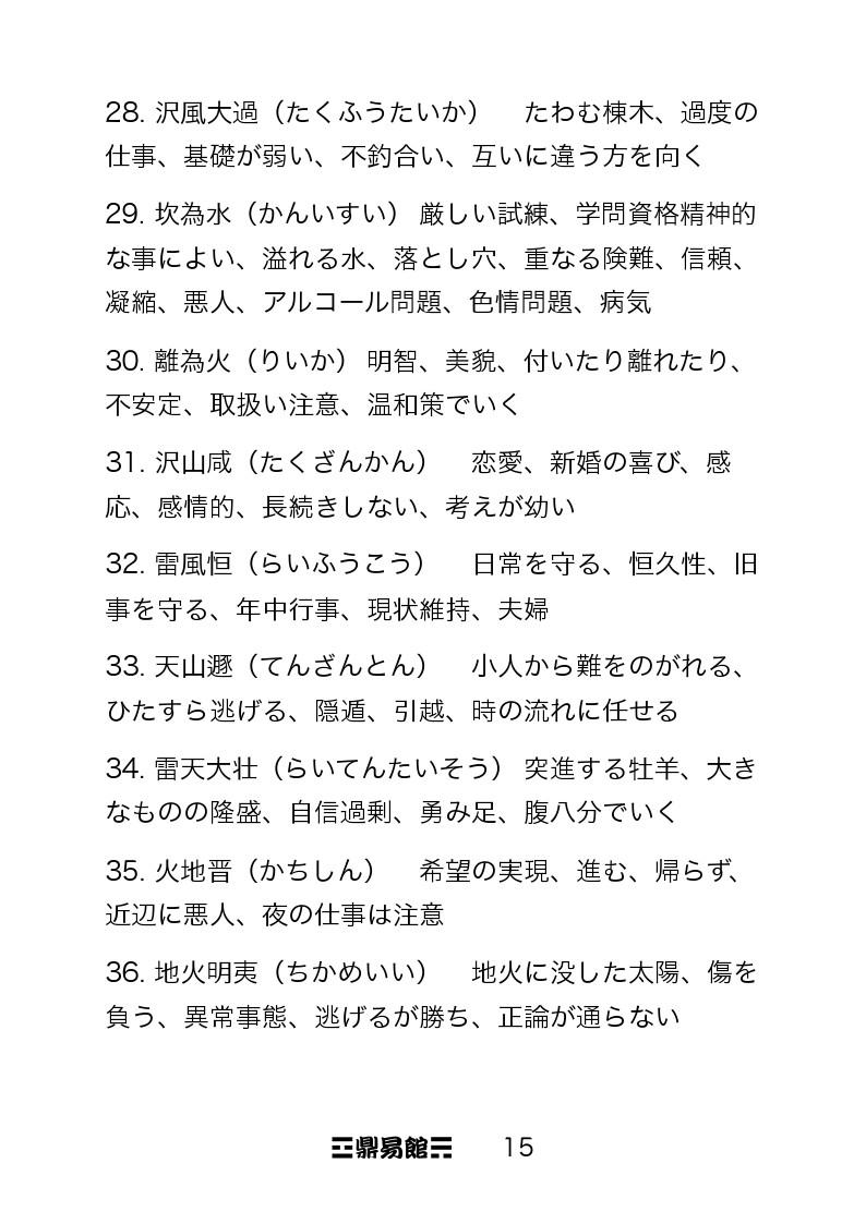 サイコロを使った易占~その2 : 鼎健一ブログ ~かなえけんいちブログ~