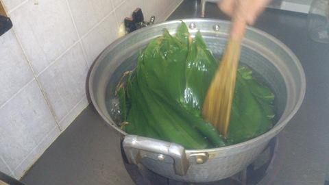 米山ガーデン料理教室「笹の押し寿司」。_d0182179_13103551.jpg