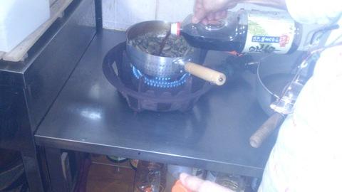 米山ガーデン料理教室「笹の押し寿司」。_d0182179_1322013.jpg