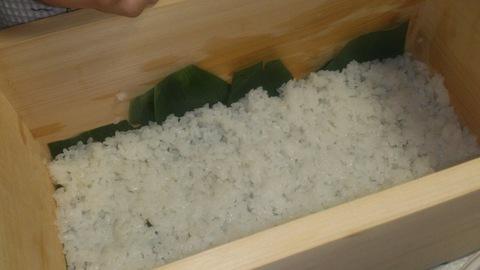 米山ガーデン料理教室「笹の押し寿司」。_d0182179_13352668.jpg