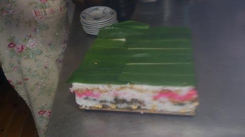 米山ガーデン料理教室「笹の押し寿司」。_d0182179_1349628.jpg