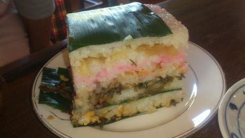 米山ガーデン料理教室「笹の押し寿司」。_d0182179_13525230.jpg