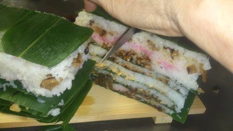 米山ガーデン料理教室「笹の押し寿司」。_d0182179_13565453.jpg