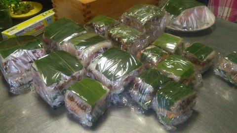 米山ガーデン料理教室「笹の押し寿司」。_d0182179_152624.jpg