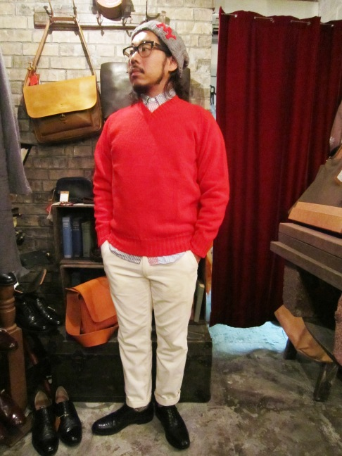 "Jamieson\'s ""SOLID V PULLOVER\"" ご紹介_f0191324_9134739.jpg"