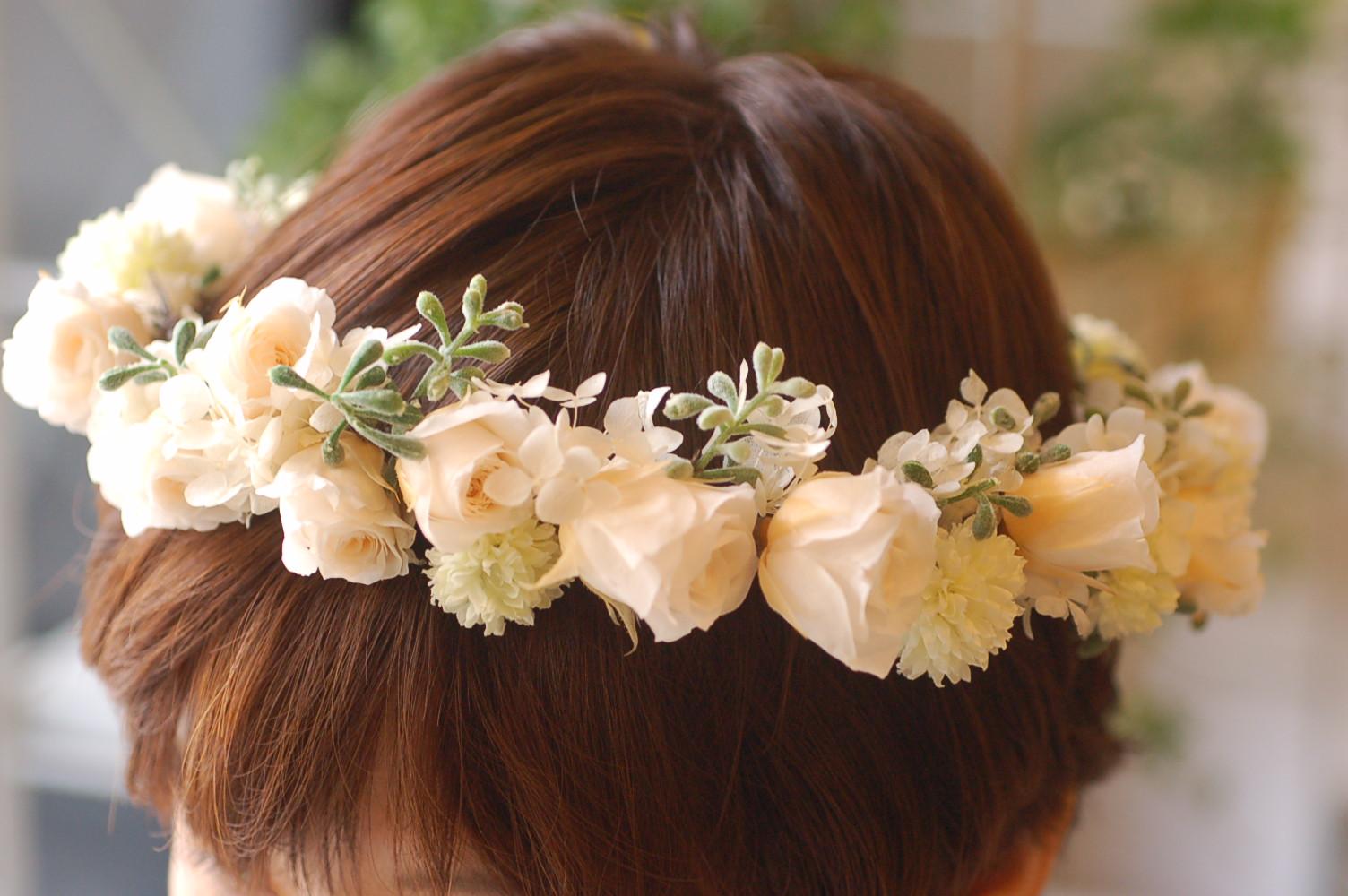プリザーブドフラワーの花冠 ♫_a0060141_1415242.jpg