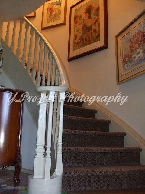 階段手摺の塗り替え_c0108065_1983930.jpg