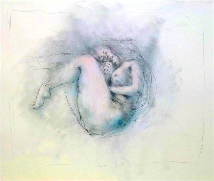 《 study (Gustav Klimt) Ⅱ 》 _f0159856_8165471.jpg