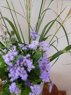 autumn flowerその2     懐かしい花器に♪_a0165160_13535265.jpg