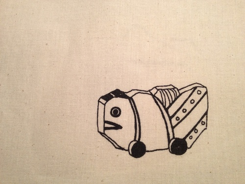 やまさき 薫 さんの、 「シルクスクリーン版画の 手さげ袋」_b0284270_1911661.jpg