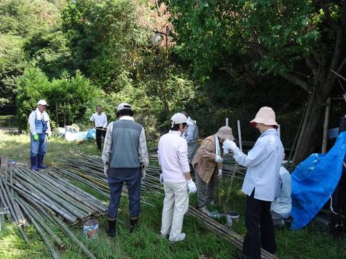 孝子の竹林でボランティア合流作業・・・第2回目_c0108460_21434369.jpg