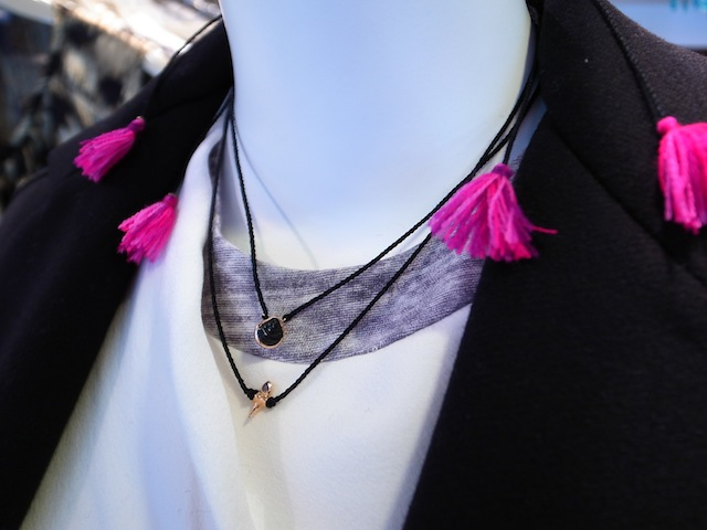 SPECIAL GIFT DEZSO PETITE SHARK TOOTH MEXICAN TASSEL NECKLACE_f0111683_12485696.jpg