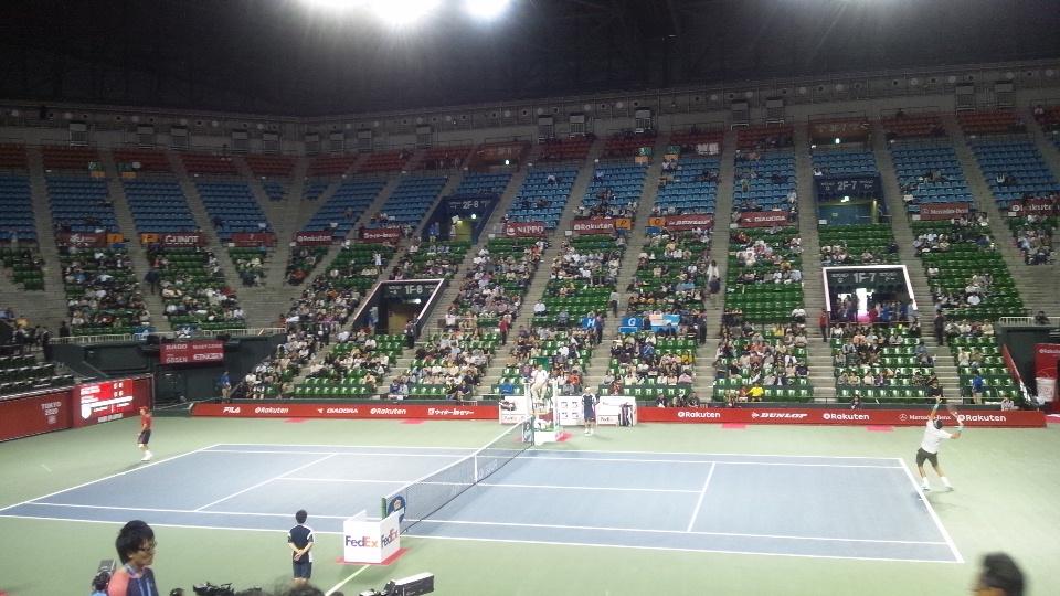 初! 生テニス観戦_d0260803_20214476.jpg